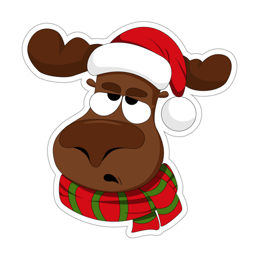 Telegram stickers Elk_Boris_Christmas