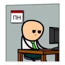Стикер Cyanide and Happiness 103